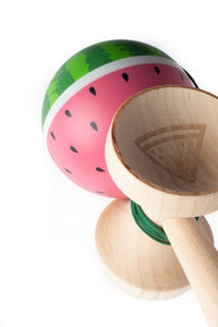 Sweets Watermelon Cushion Clear Kendama engraving