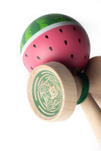 Load image into Gallery viewer, Sweets Watermelon Cushion Clear Kendama angle