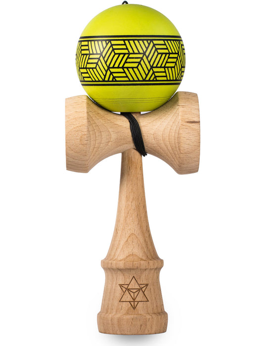 Lime Cube Kendama