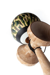 V25 Classic Camo Cushion Clear Kendama angle