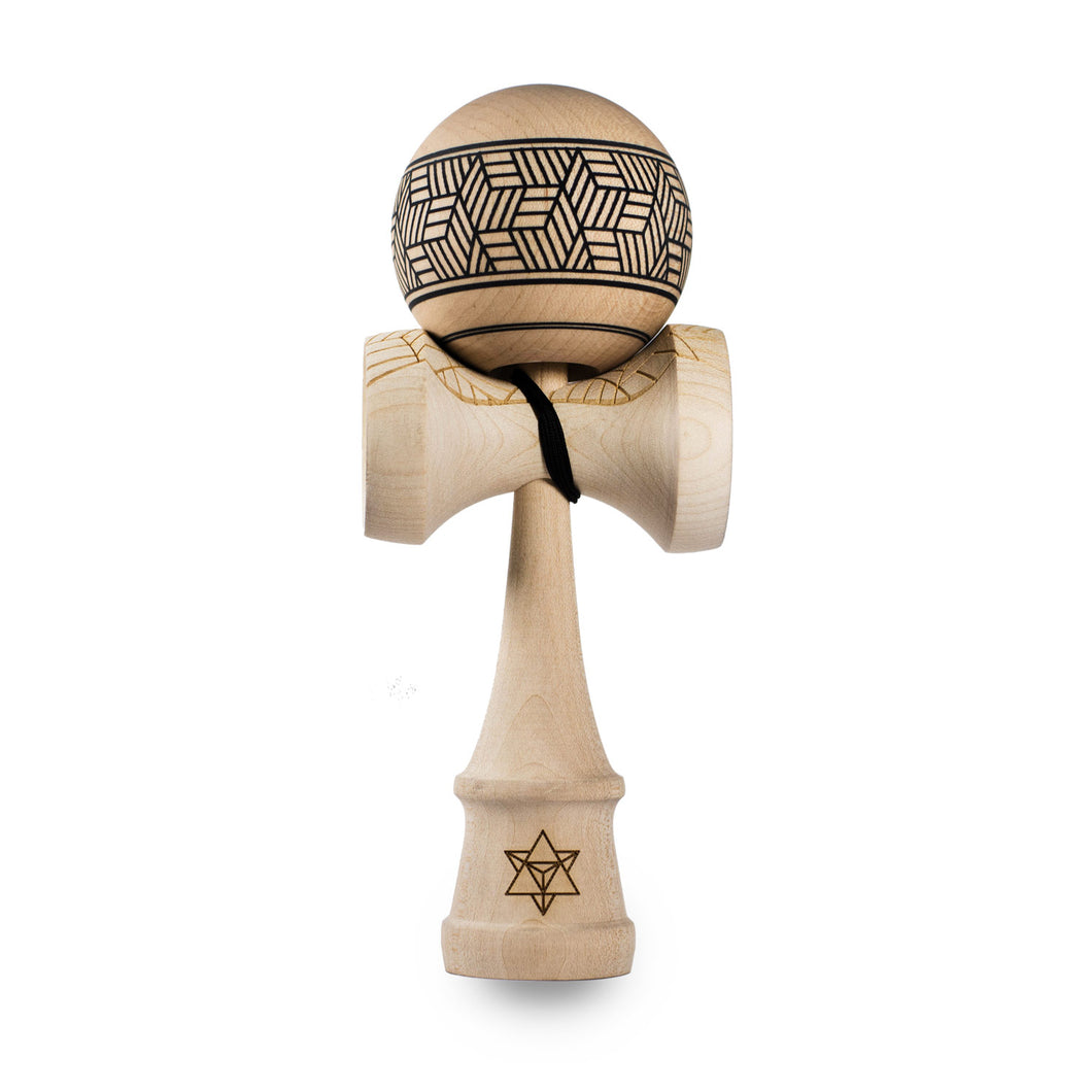 KENDAMA ISRAEL BIG BROTHER MAPLE - HIPPO CLEAR CUBE KENDAMA