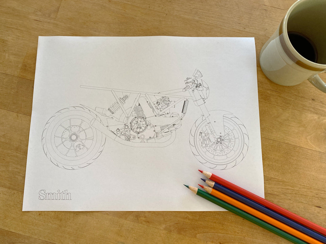 SMITH Ducati Coloring Page