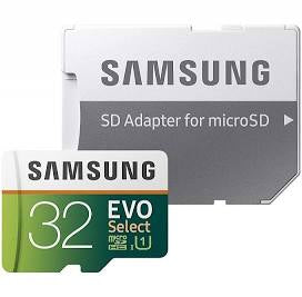 Samsung 32GB 95MB/s (U1) Micro SD EVO Select Memory Card with Adapter (MB-ME32GA/AM)