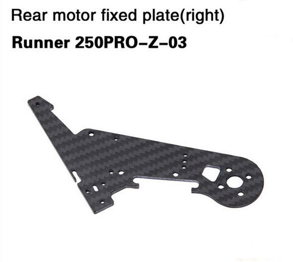 Walkera Runner 250 Pro Rear motor fixed plate right,Runner 250PRO-Z-03