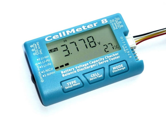 CellMeter 8 LiPo Battery Tester Multifunctional Digital Capacity 2S-8S