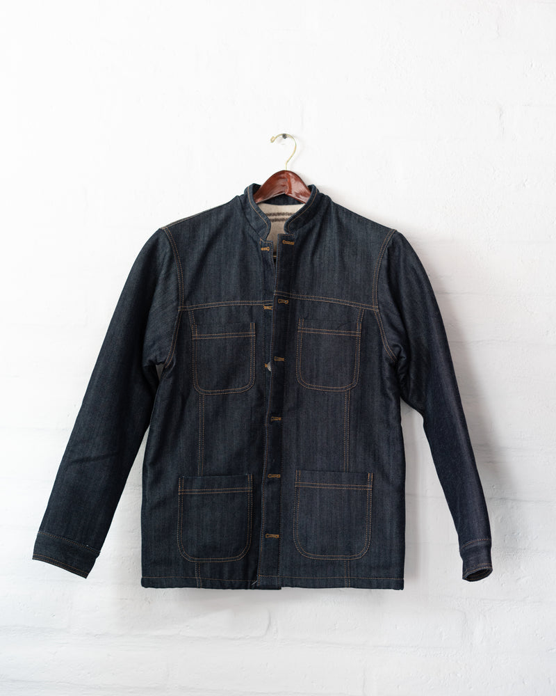 Sierra Reversible Jacket in Dark Wash