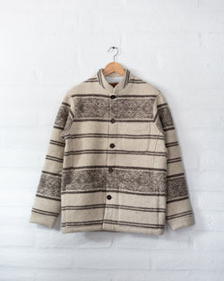 Tambo Wool Jacket in White Andes Pattern