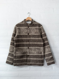 Tambo Wool Jacket Andes Pattern - Gray