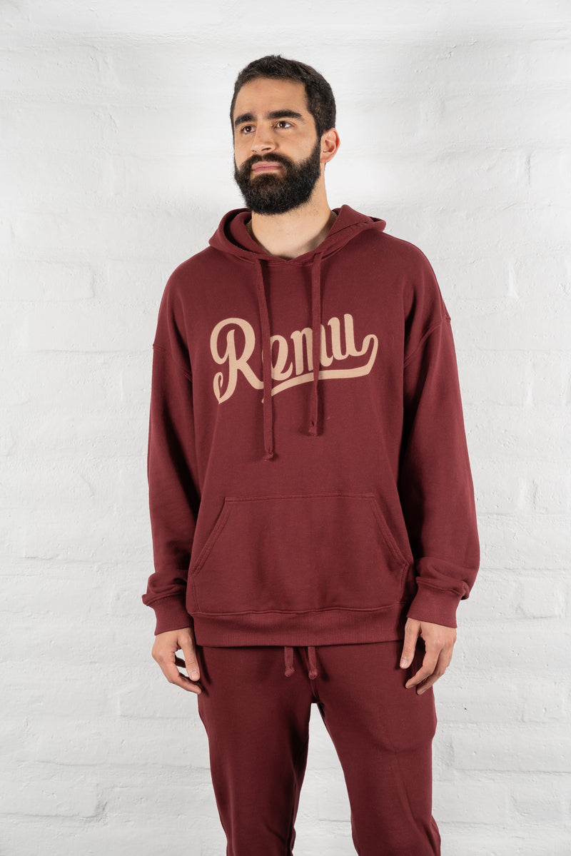The Conscious Hoodie in Bordeaux
