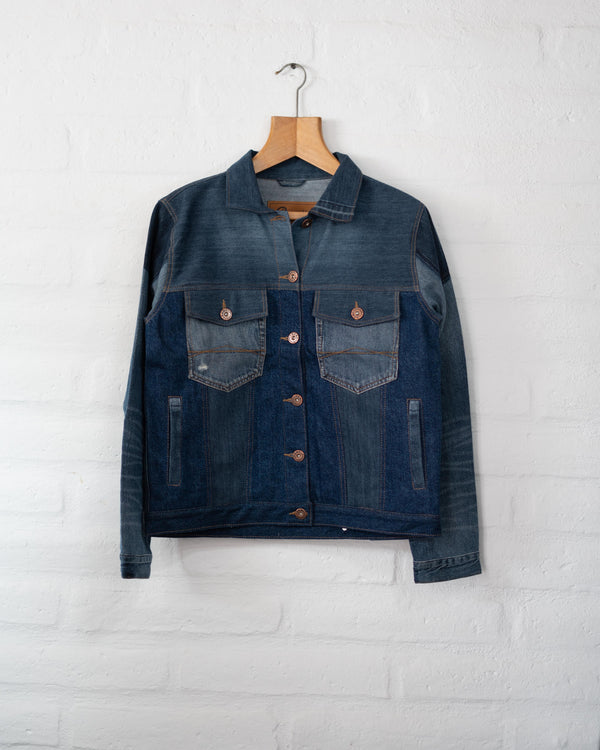 Upcycled Denim Jacket - Women's - L