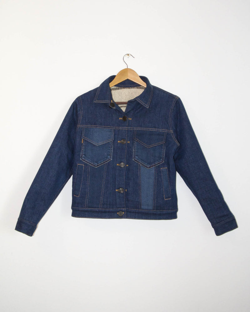 Loma Reversible Jacket in Dark Wash