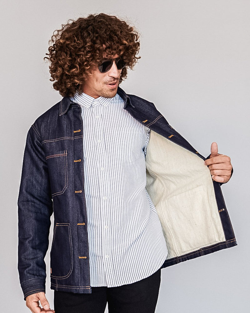 Paramo Reversible Jacket in Dark Wash