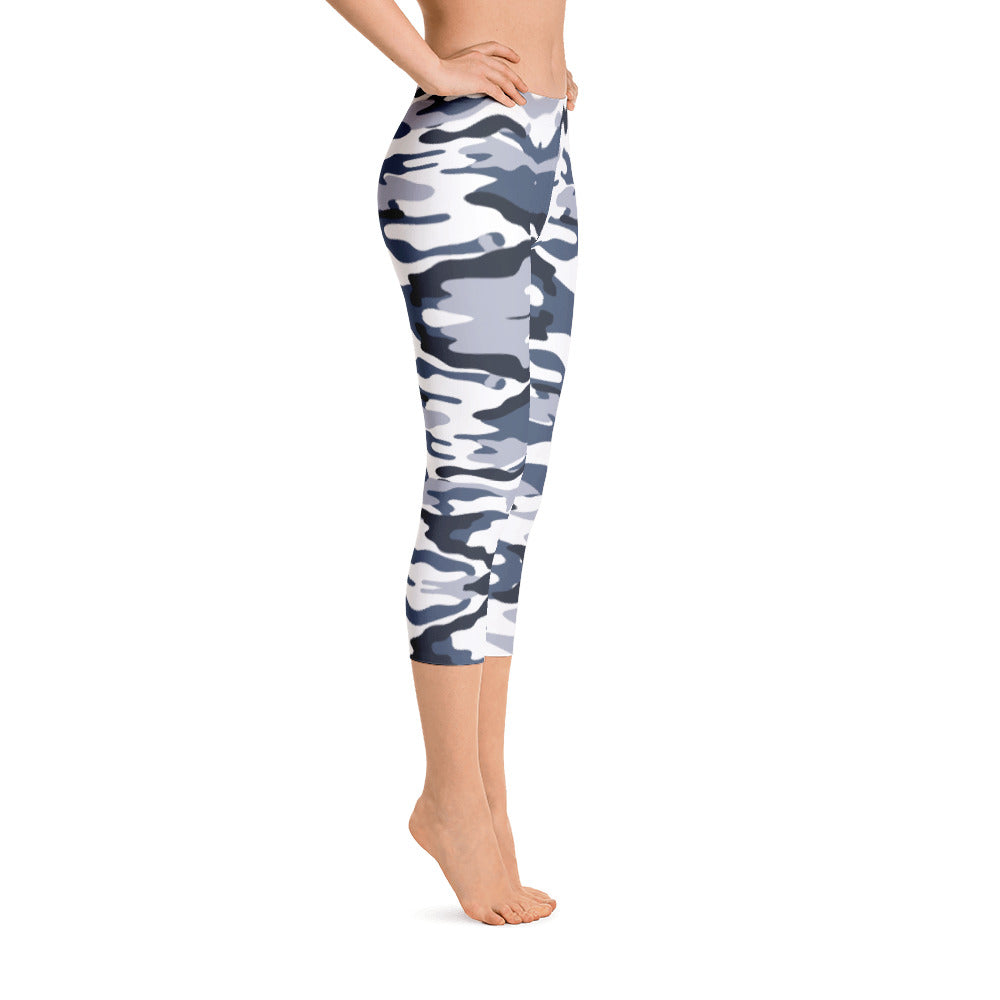 White Camo Capri Leggings