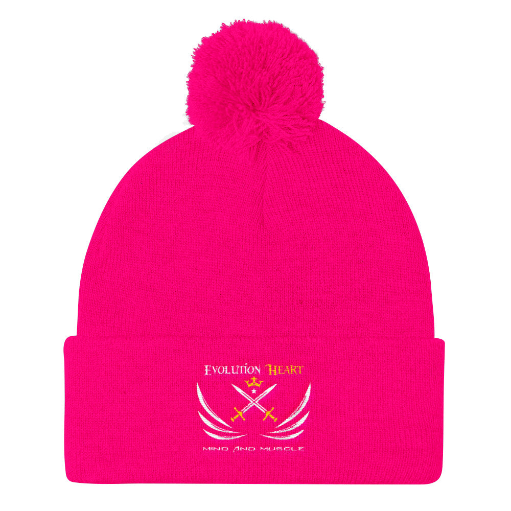 EvolutionHeart Pom Pom Knit Cap