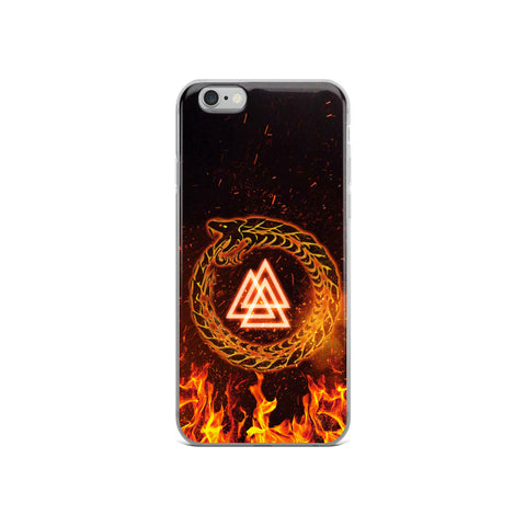 Flame Viking Ouroboros iPhone Case