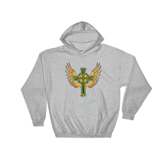 Winged Cross Hooded Sweatshirt