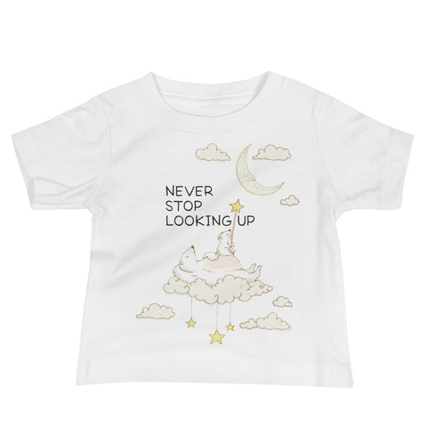 Polar Bear Moon Inspirational Baby Jersey Short Sleeve Tee