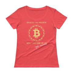 Bitcoin Ladies' Scoopneck T-Shirt