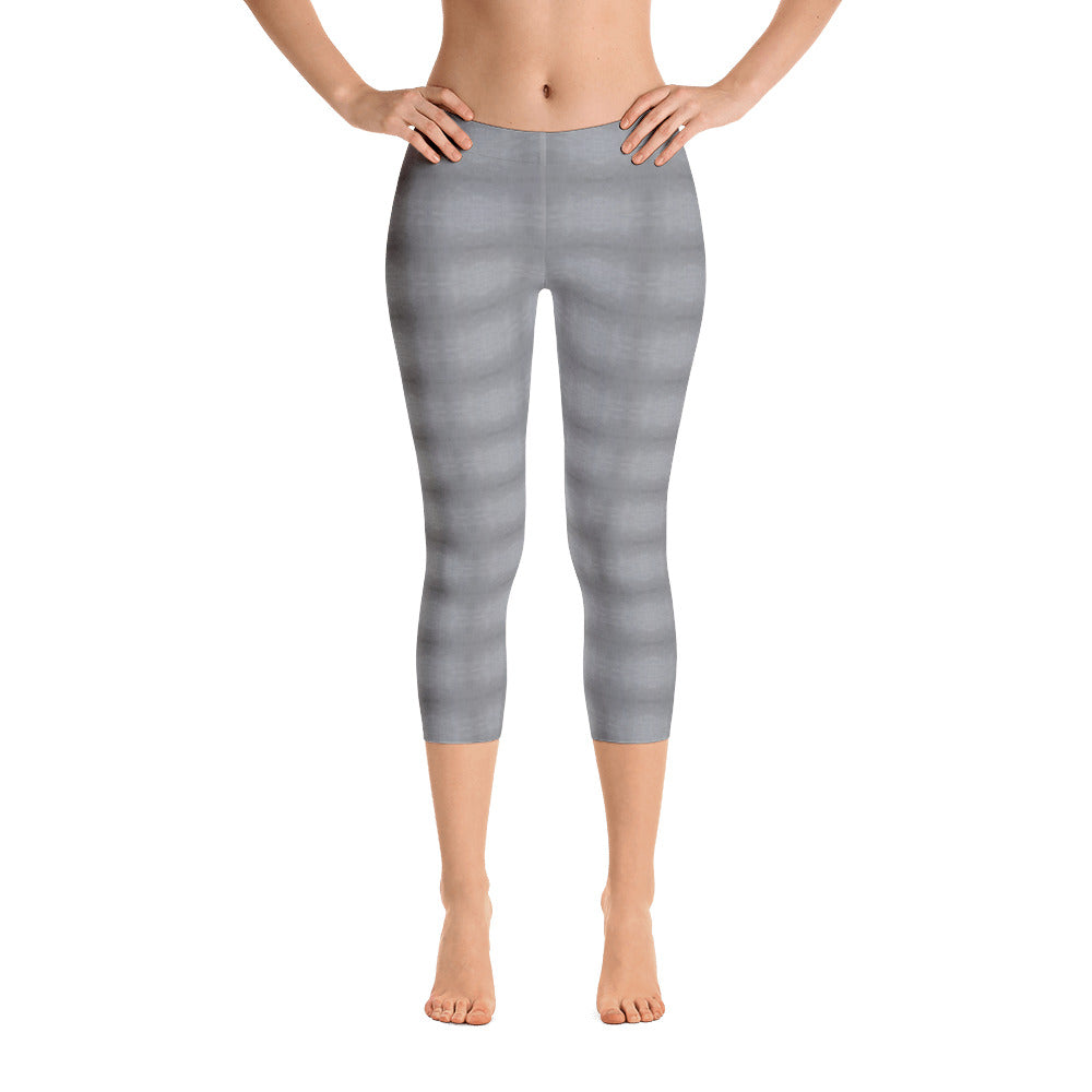 Light Grey Capri Leggings