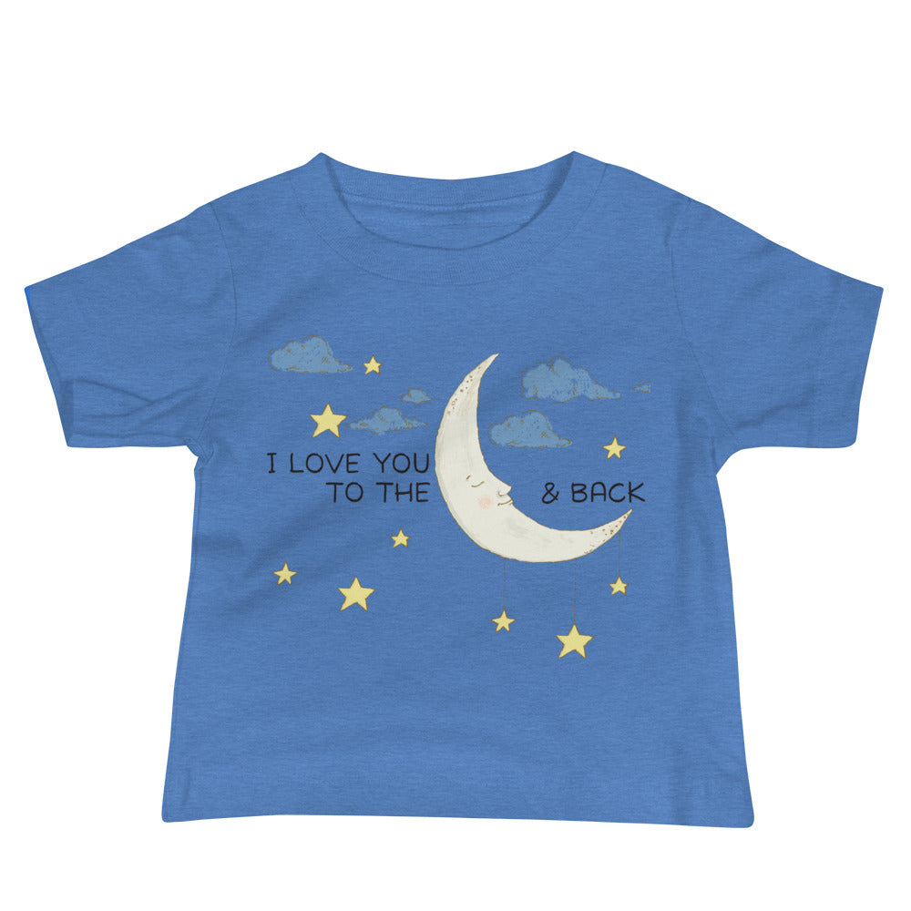 Inspirational To the Moon and Back Baby Jersey Short Sleeve Tee