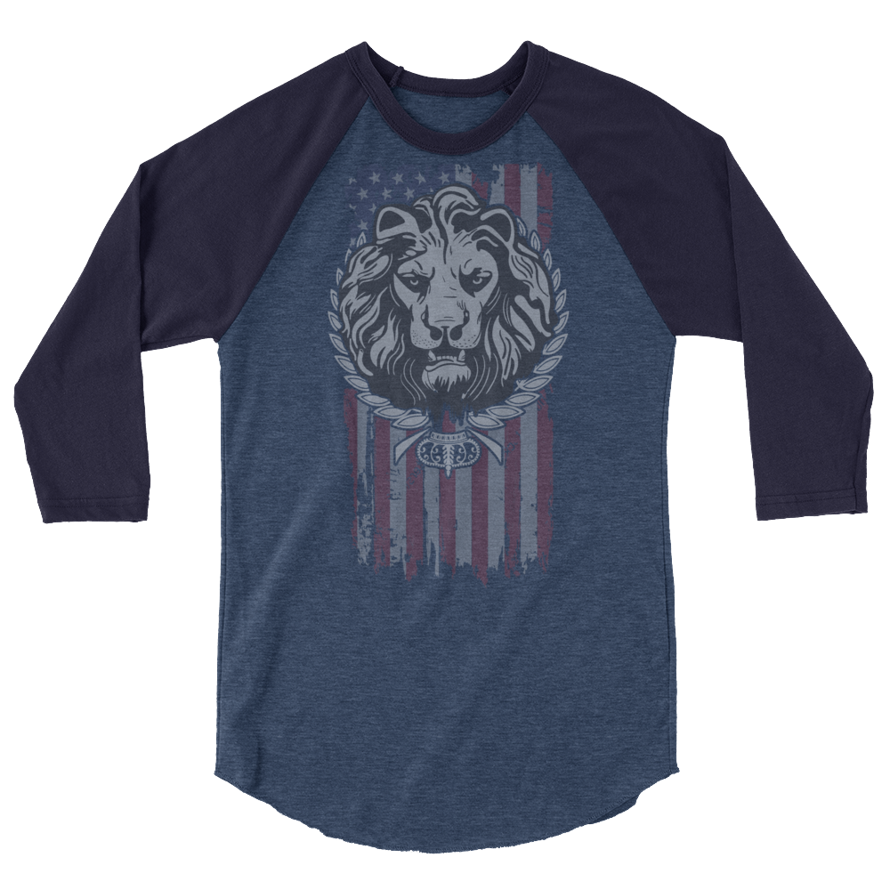 American Lion 3/4 sleeve raglan shirt