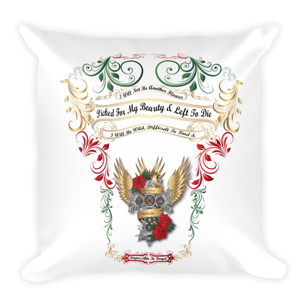 Templar Cross Square Pillow