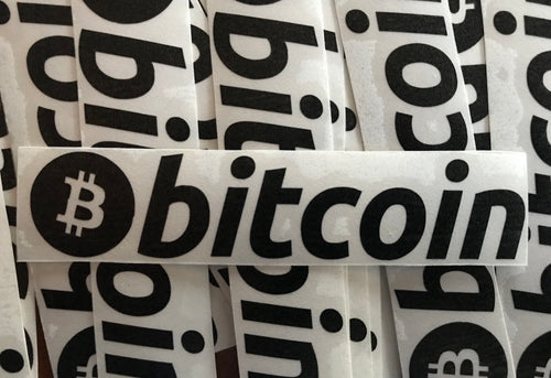 Bitcoin Matte Black Vinyl Decal