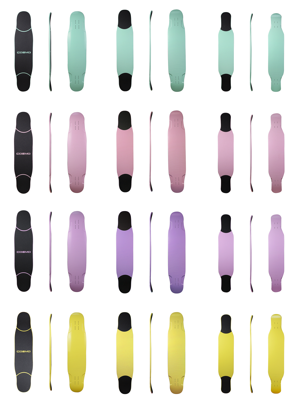 Cosmo Longboards 'Pastel Collection'