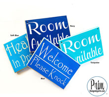 Load image into Gallery viewer, Designs by Prim Custom Wood Sign Color Chart Navy Blue Turquoise