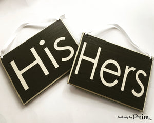 8x6 HIS HERS Two signs Custom Wood Sign Wedding Door Plaque  (Set of 2) Love Soulmate Bedroom Couple Bridal Gift