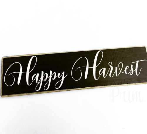 Happy Harvest Custom Autumn Fall Farmhouse Wood Sign