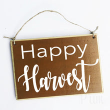 Load image into Gallery viewer, Happy Harvest Custom Fall Autumn Welcome Door Wood Sign