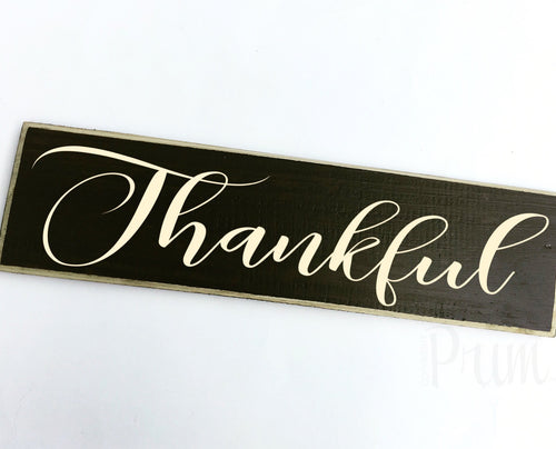 Thankful Custom Wood Autumn Fall Harvest Sign