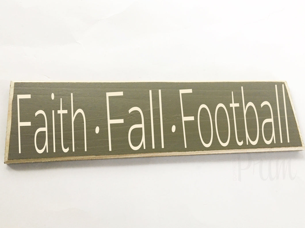 Faith Fall Football Custom Wood Autumn Harvest Family Sign