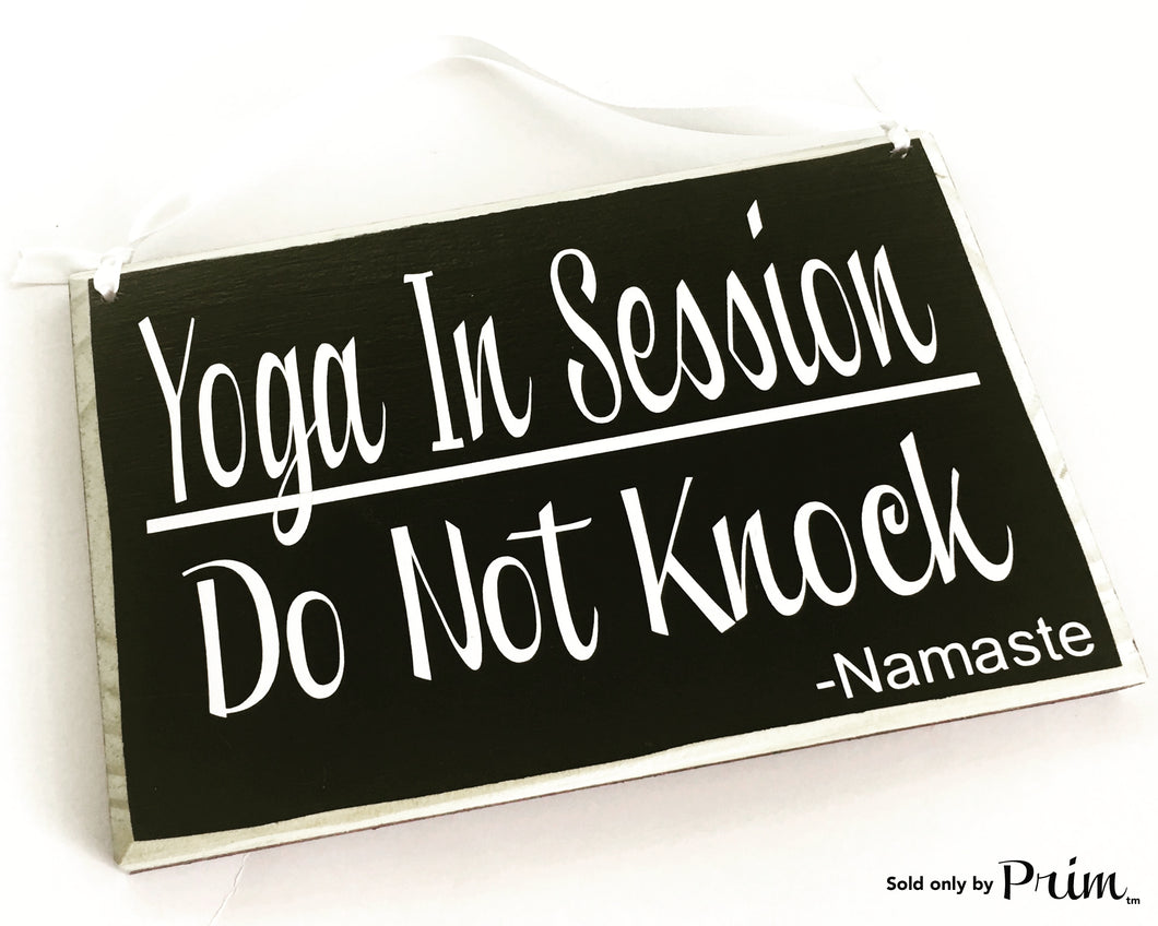 8x6 Yoga In Session Do Not Knock Namaste Custom Wood Sign Do Not Disturb Om Relaxation Spa Om Zen Meditation Door Plaque