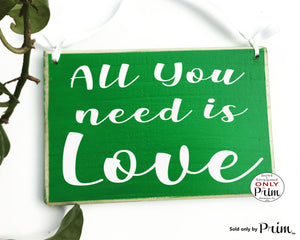 All You Need Is Love 10x8 Custom Wood Sign Soulmates Wedding Always and Forever His Hers Bedroom Home Decor Wall Art Bridal Shower Gift