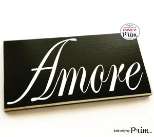 AMORE Custom Wood Sign Italian Love Anniversary Wedding Soulmate Family Always and Forever Wall Door Plaque