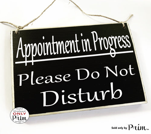 10x8 Appointment In Progress Please Do Not Disturb Custom Wood Sign In Session Massage Spa Shhh Meeting