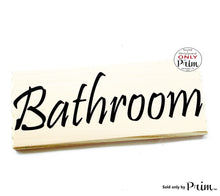 Load image into Gallery viewer, 10x4 BATHROOM Custom Wood Sign Loo Restroom Bath WC Office Spa Salon Home Business Wall Door Plaque