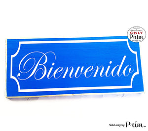 12x6 Bienvenido Spanish Welcome Border Custom Wood Sign | Entrance Home Come In Home Sweet Home Front Door Porch Entryway Wall Decor Plaque