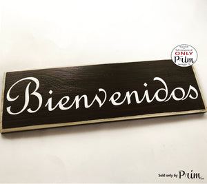 12x4 Bienvenidos Spanish Custom Wood Sign Welcome Plaque