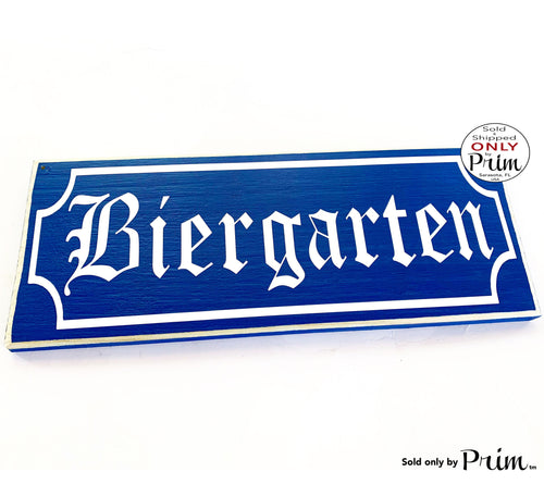 14x6 BIERGARTEN Custom Wood Sign Wall Welcome German Hanger Willkommen Oktoberfest Home Deutschland Bavarian Garden Wall Plaque