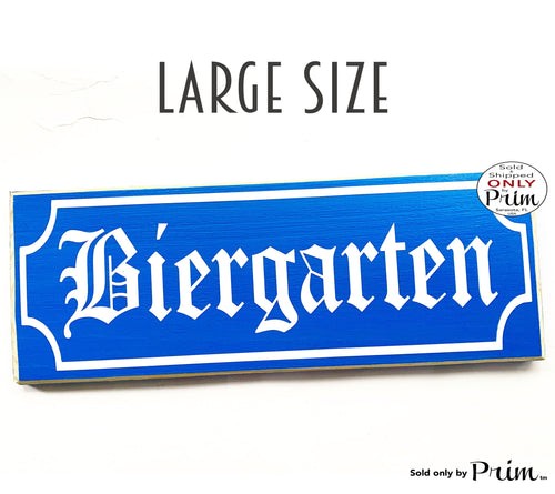 Large BIERGARTEN Custom Wood Sign 24x8 German Oktoberfest Beer Brats Deutschland Guten Appetit Willkommen Bar Pub Wall Decor Plaque