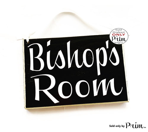 8x6 Bishop Custom Wood Sign | Senior Member Christian Clergy Church Chapel Name Title Religion Prayers Wall Decor Door Hanger Plaque