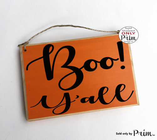 Boo! Y'all Custom Wood Sign Autumn Fall Halloween Give Thanks Pumpkin Spice Thanksgiving Gather