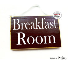 Load image into Gallery viewer, 8x6 Breakfast Room Custom Wood Sign Kitchen Kiss the cook Chef Office Break Room Airbnb Plaque