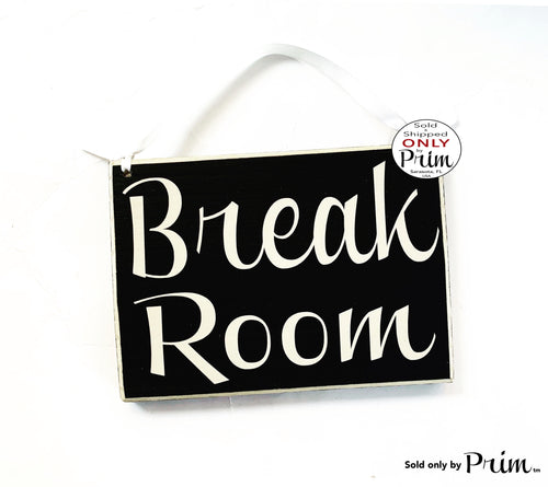 8x6 Break Room Custom Wood Sign | Out to Lunch Be Back Shortly Soon Lunch Room Food Kitchen Office Cubicle Work Busy Spa Business Plaque