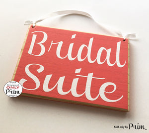 8x6 Bridal Suite Custom Wood Sign Wedding Groom Ceremony Bridal Shower Door Plaque