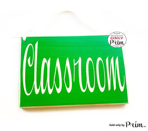 8x6 Classroom Custom Wood Sign Teacher Student School Counseling Academic Training Staff Meeting Conference Room Welcome Wall Door Plaque