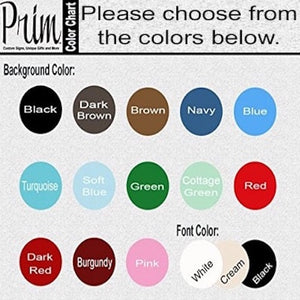 Designs by Prim Color Chart